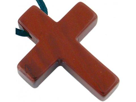 Edelsteinkreuz - Roter Jaspis