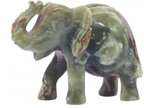 """Onyx-Marmor Elefant """"Rüssel"""""""