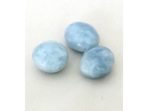 Trommelstein Calcit, blau
