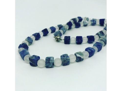 Kette Sodalith - Bergkristall