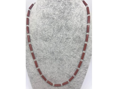 Kette Roter Jaspis Bergkristall