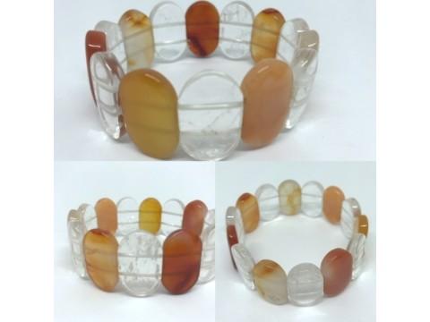 Armband Karneol Bergkristall