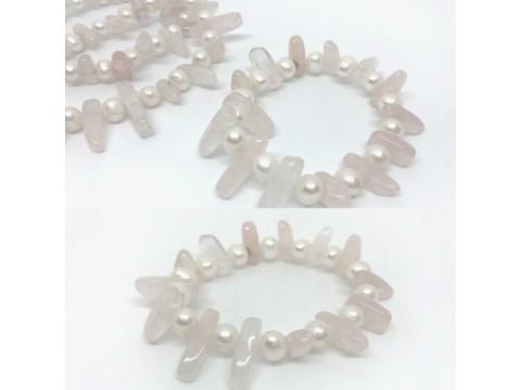 Armband Rosenquarz Perle