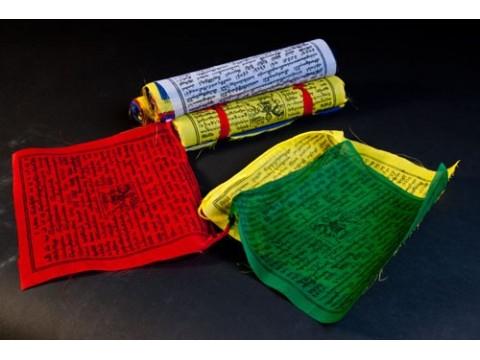 Tibetische Gebetsfahnen groß